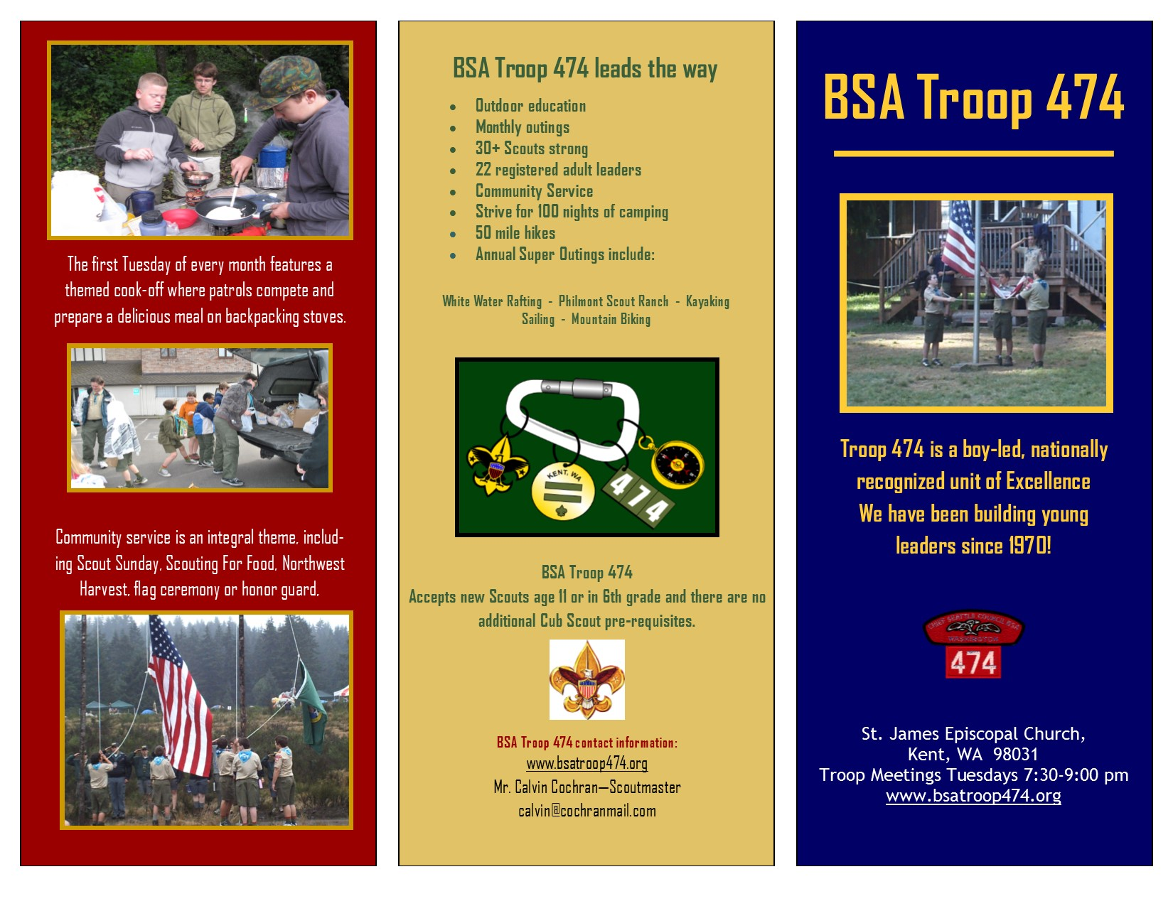 See some examples of Troop 474 activities in our flyer.